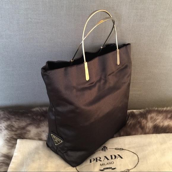 817ea8127091 Authentic Prada Black Satin Handbag. M_5c36f5cce944ba69d5124053